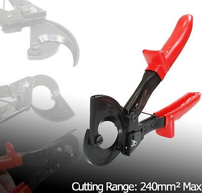 Ratchet Cable Cutter Cut AWG 600MCM Ratcheting Wire Cut Hand Tool Up To 240mm2