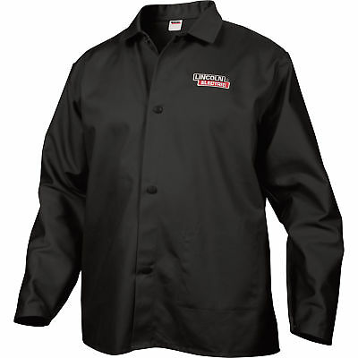 Lincoln Electric Flame-Retardant Welding Jacket - XXL Size, 34in. Sleeves, Black