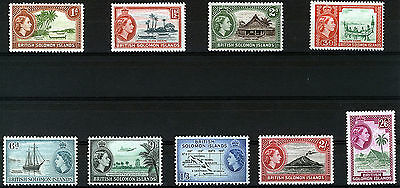 British Solomon Islands 1963-64 Definitives Sg103/111 Mnh