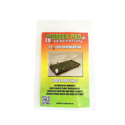 The Green Pad JR CO2 Generator - 10PK | Great for Clone Propagation Box