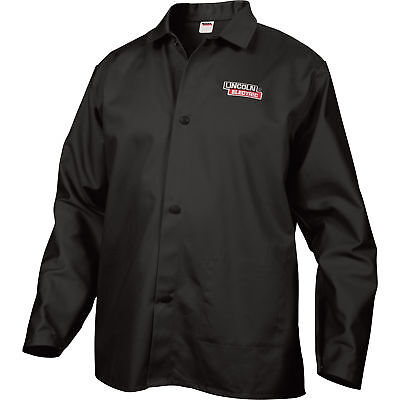 Lincoln Electric Flame-Retardant Welding Jacket - L Size, 32in. Sleeves, Black