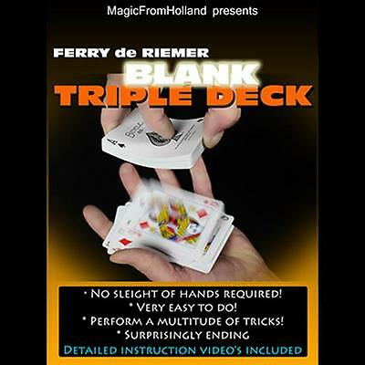 Triple Bicycle Red / Blank Deck Of Playing Cards - Magic Tricks Gaff Gimmick