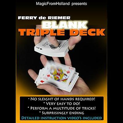 Triple Bicycle Blue / Blank Deck Of Playing Cards - Magic Tricks Gaff Gimmick