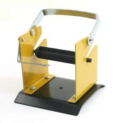Metal Soldering Stand Holder Tool w Solder Iron Wire Reel