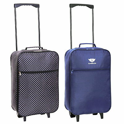 Super Light Ryanair Cabin Approved Wheeled Suitcase Luggage Holdall Case Bag