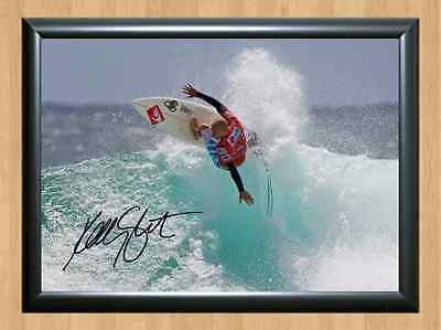 Kelly Slater Surfing Surfer Surf Signed Autograph A4 Poster Photo Print Wave