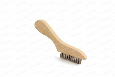 Small Hand Wire Brush Metal Steel Bristle Rust Paint Remover Scratch Grout Tool