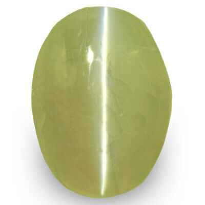4.99-Carat IGI-Certified Indian Chrysoberyl Cat's Eye with Strong Chatoyance