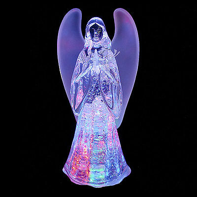 Christmas Colour Changing Water Angel Ornament Xmas LED Light Decoration Figure