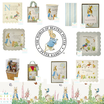 Peter Rabbit Birthday Partyware Meri Meri Christening Party Baby Original
