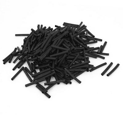 600 Pcs 2.5mm Polyolefin 2:1 Heat Shrink Tubing Tube Cable Sleeve Wrap Wire