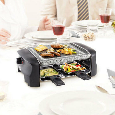 Set Raclett Gourmet Barbecue Tavolo Grill Pietra Ollare Party 4 Persone Princess