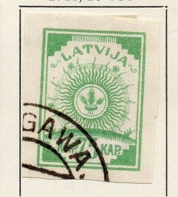 Latvia 1918-20 Early Issue Fine Used 75k. 013005