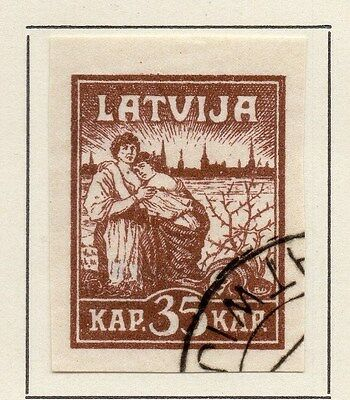 Latvia 1919 Early Issue Fine Used 35k. 013014