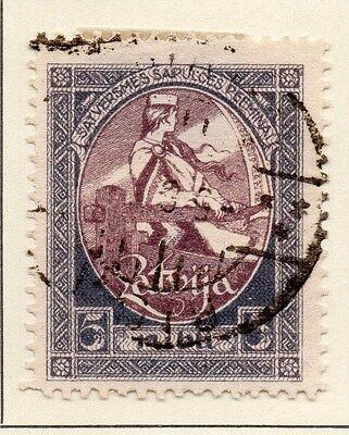 Latvia 1920 Early Issue Fine Used 5R. 013028