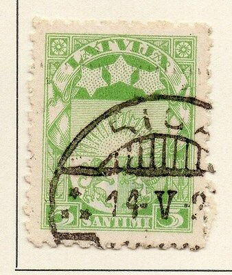 Latvia 1921-22 Early Issue Fine Used 1R. 013045