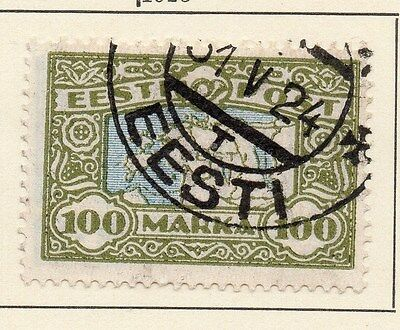 Estonia 1923 Early Issue Fine Used 100M. 013087
