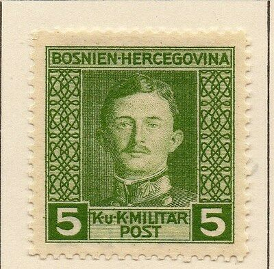 Bosnia Herzegovina 1917 Early Issue Fine Mint Hinged 5h. 013140