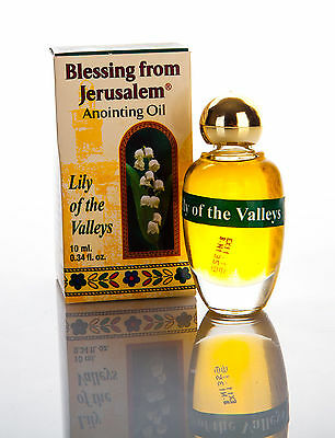 Authentic Blessed Perfumed Lily of the Valley Jerusalem Anointing Oil 0.34 fl