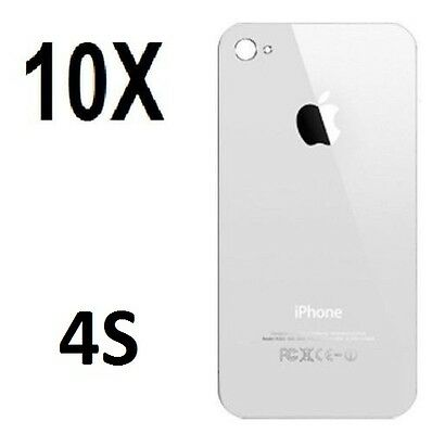 X10 Replacement Rear Glass Back Cover Battery Door For iphone 4S A1387 White