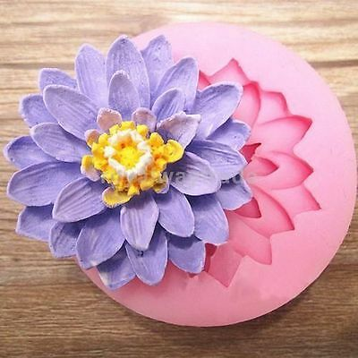 3D Flower Silicone Fondant Cake Chocolate Candy Decorating Sugarcraft Mold Mould