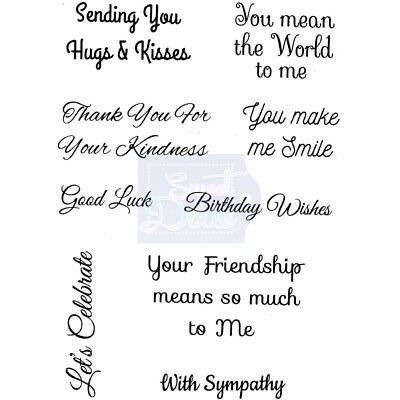Lindsay Mason SMILES & YEARS Clear Stamps  -  Card Sentiment Phases