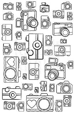 Art Stamps SNAP! BACKGROUND Clear Stamp - Camera Photography Theme
