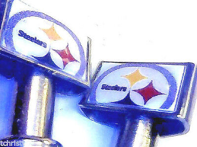 2 Steelers Football Stainless Steel Cribbage Pegs W/ Black Velvet Bag USA  a