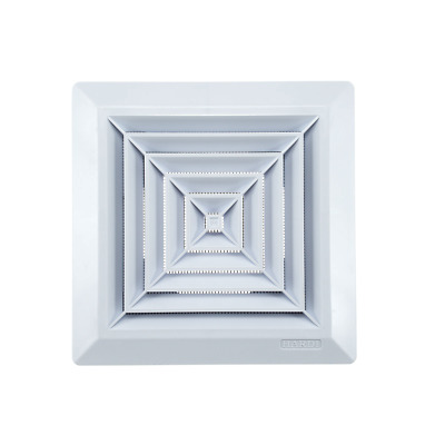 Ceiling Air Vent Grille 278mm x 278mm with 250mm Duct Hose Connection Flange