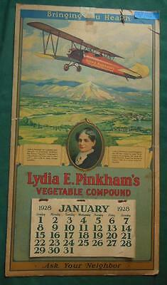 1928 Lydia E. Pinkham's Vegetable Compound General Store Advertising Calendar