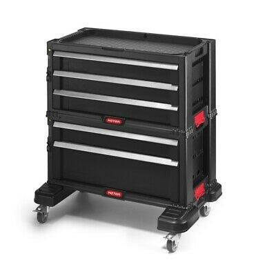 Keter TOOL CHEST SYSTEM PROFESSIONAL WHEELED LARGE CAPACITY TOOL CHEST.