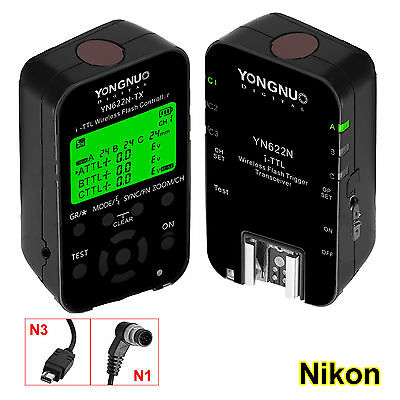 Yongnuo YN-622N KIT TX RX i-TTL  YN622N TRIGGER FLASH 1/8000s  NIKON  Digital