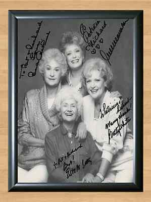 The Golden Girls Cast Bea Arthur Signed Autographed A4 Print Photo Poster TV dvd