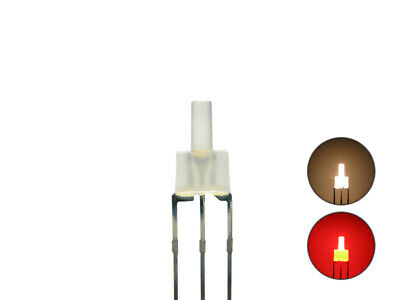 S445 10 Stk. DUO LEDs 2mm Bi-Color warmweiß rot diffus Lichtwechsel Loks DIGITAL