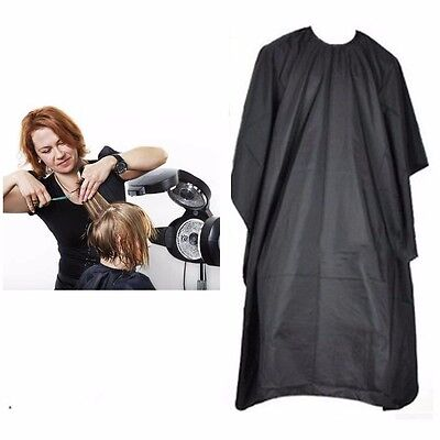 1 x BLACK HAIRDRESSING HAIR CUTTING CAPE BARBER HAIRDRESSER PRO SALON GOWN
