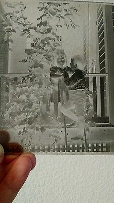 ANTIQUE DRY PLATE GLASS 4x5 NEGATIVE