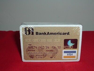 BANK OF AMERICA —— BANKAMERICARD PLAYING CARDS New in Box 1990's