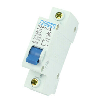 AC 230/400 20A 4000A 50Hz Single Pole ON/OFF Safety Switch Mini Circuit Breaker
