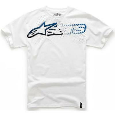 Alpinestars Depth Classic Motorcycle Cotton T Shirt White XL - Sale