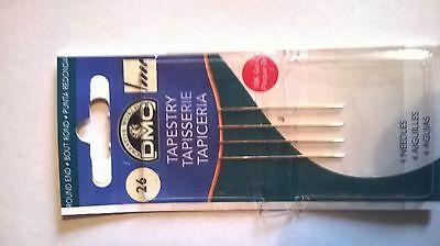 Size 26 Dmc Tapestry Needles Pack Of Four 6129/12 Free Uk Postage And Packaging