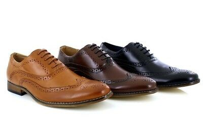 Goor M014 Mens Classic Brogue Oxford Lace Up Shoes