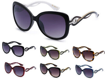 VG Eyewear Womens Vintage Unique Temple Designer Butterfly Fashion Sunglasses