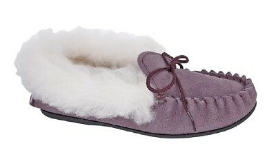 Girls KIRSTY Slippers Mokkers Leather Moccasin Slipper