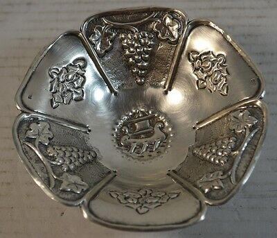 Antique 900 Coin Silver Repousse Bowl