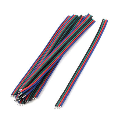 10 Pcs 15cm Flexible Dual Ends Tin Plated Cable for 4 Pin Jumper Wire