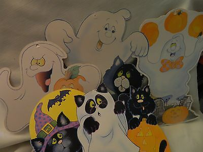 Set Of Four Vintage 1970's Halloween Decorations - Cute