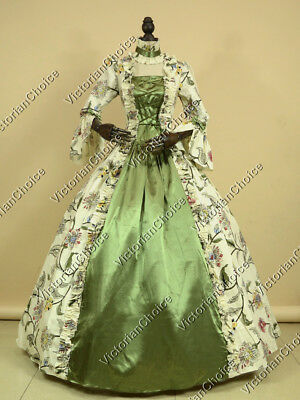 Renaissance Victorian Princess Floral Period Garden Dress Gown Theatre Wear 138