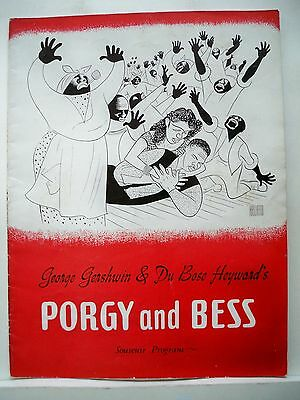 PORGY AND BESS Souvenir Program TODD DUNCAN / ETTA MOTEN / AVON LONG Tour 1942