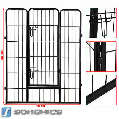Large 8 Sided Heavy Duty Dog Pet Pen Playpen Exercise Whelping Cage 81'' to 88''