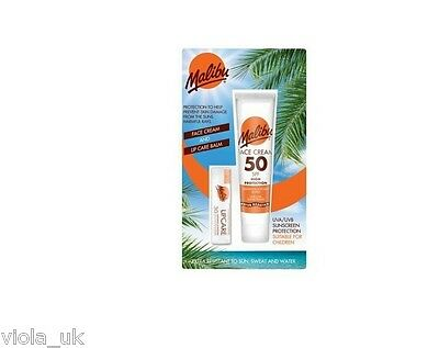 Malibu Face Sun Lotion SPF 50 40ml And Lip Balm SPF 30 Pack Sun Protection